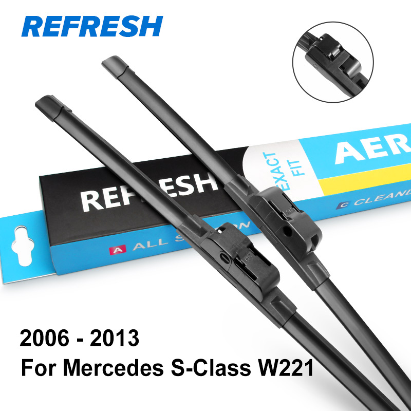 REFRESH Щетки стеклоочистителя для Mercedes Benz S Класс W220 W221 S250 S280 S300 S320 S350 S400 S420 S430 S450 S500 S600 S55 S63 AMG CDI - Цвет: 2006 - 2013 ( W221 )
