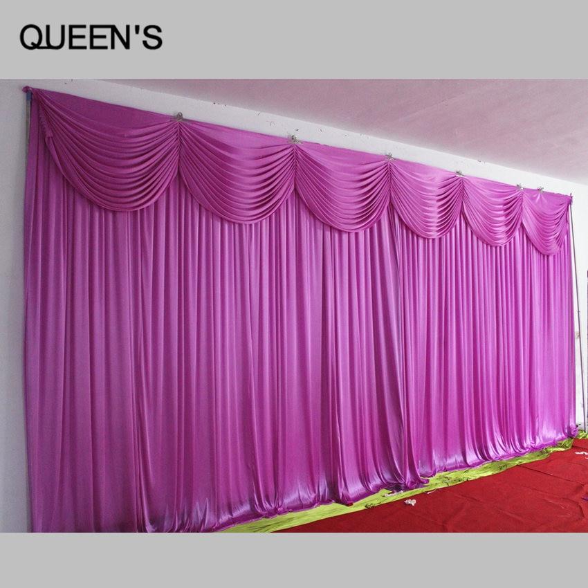 Ice silk elegant wedding backdrop 3m 6m wedding supplies for Aana decoration wedding accessories