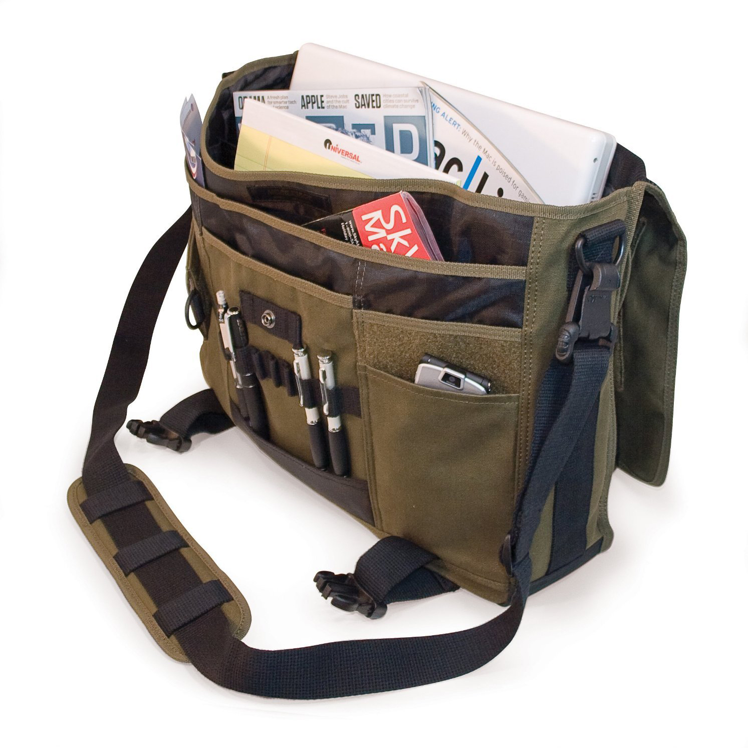 Messenger-Bag Notebook Tablet Canvas Women Pc-Trade Multi-Function-Type Environmental-Protection