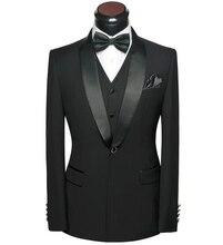 Men Wedding Dress Suits 2017 Latest 5 piece Groom Wedding Suit Set Slim Fit Round Collar Prom Party Black-tie Dress