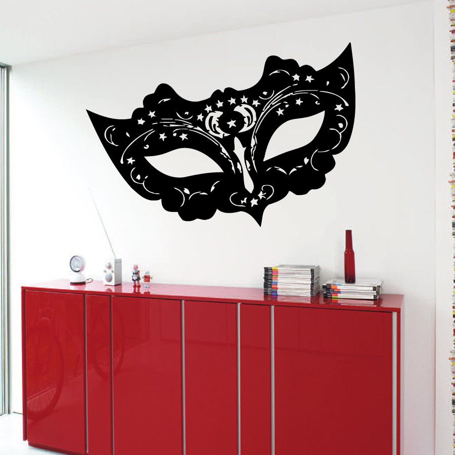 Popular masquerade mask stickers buy cheap masquerade mask for Adhesive wall decoration