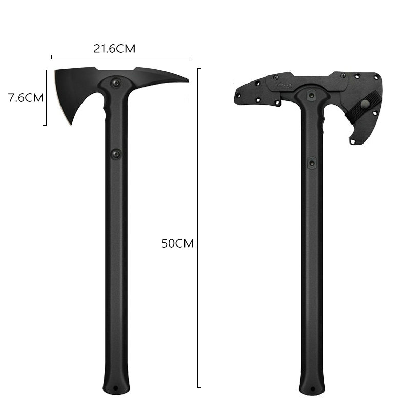 Heat! Free shipping 2018 new Tomahawk army outdoor hunting camping survival mountaineering axe hand tool fire axe broken ice axe fire steel survival striker army camping hunting flint with plastic holder