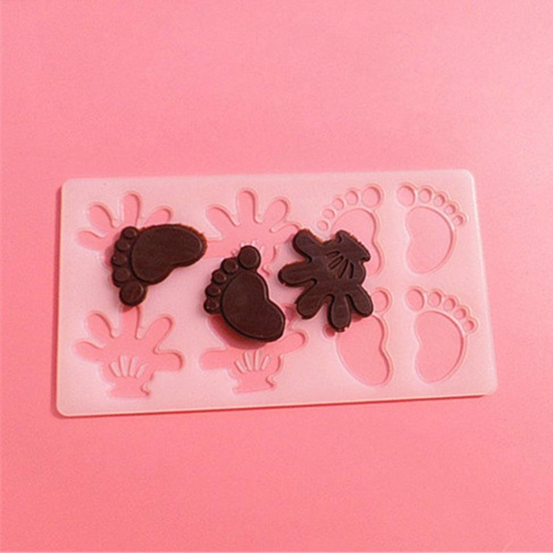 İsti kiçik əllər ayaq şokoladlı konfet Jello 3D silikon kalıp - Mətbəx, yemək otağı və barı - Fotoqrafiya 5