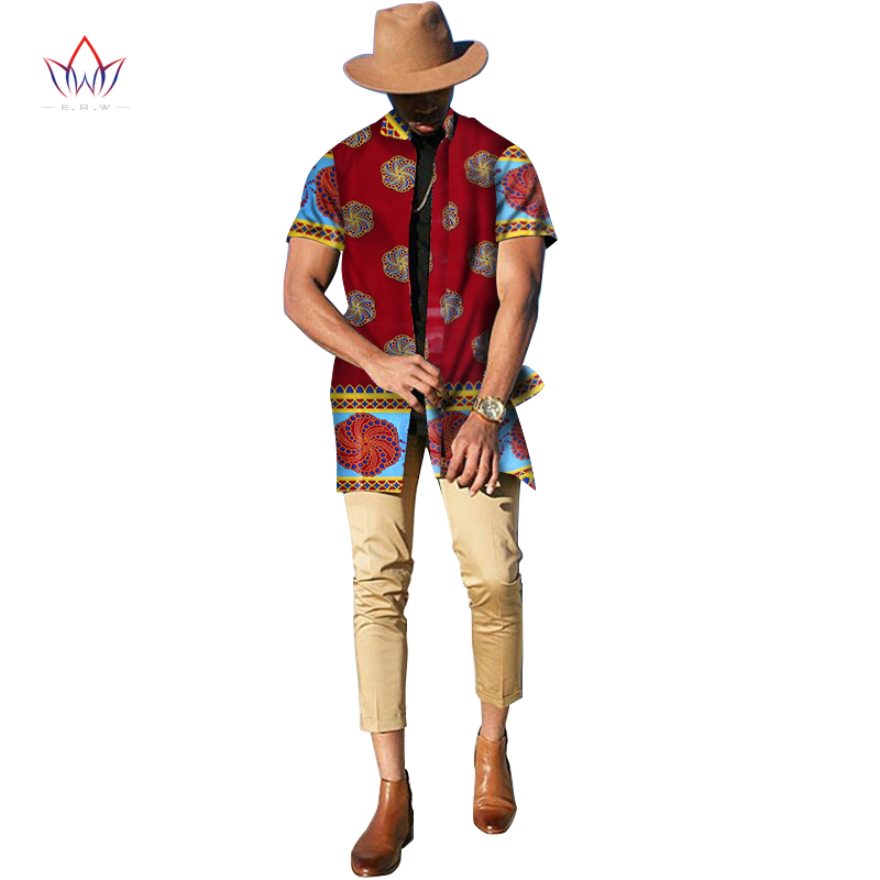 2017 Summer New Fashion Dashiki Traditional Clothing Men Short Sleeve Trench Print African Hooded Coat Custom Plus Size  WYN174
