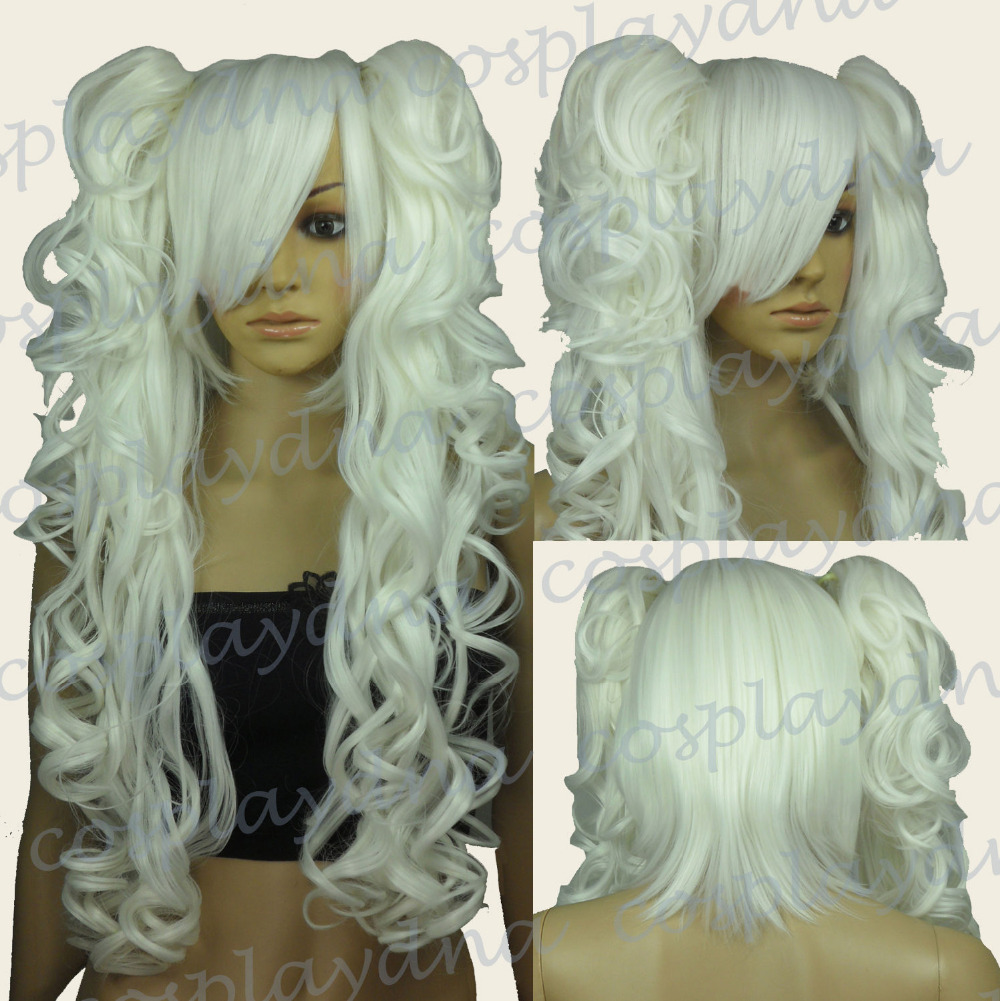 &Wholesale&>> Heat Resistant White Cosplay Wig