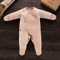 Mamelucos del bebé recién nacido bebé muchacha del muchacho de algodón natural de alta calidad espesar outfit ropa ropa bebe recien nacido bebé ropa