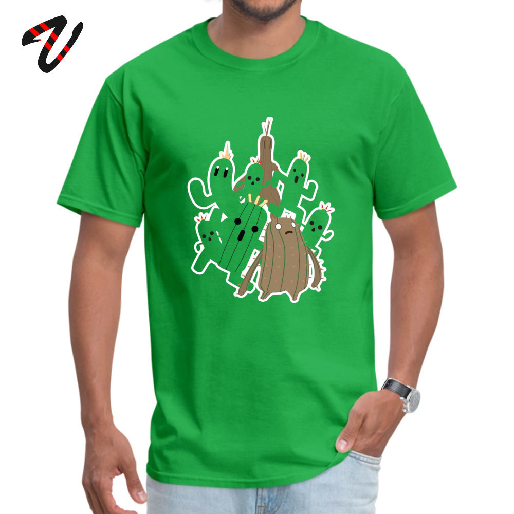 Youth Brand New Summer Tees Crewneck Thanksgiving Day 100% Cotton T-Shirt Casual Short Sleeve Cactuar Tee-Shirts Cactuar16762 green