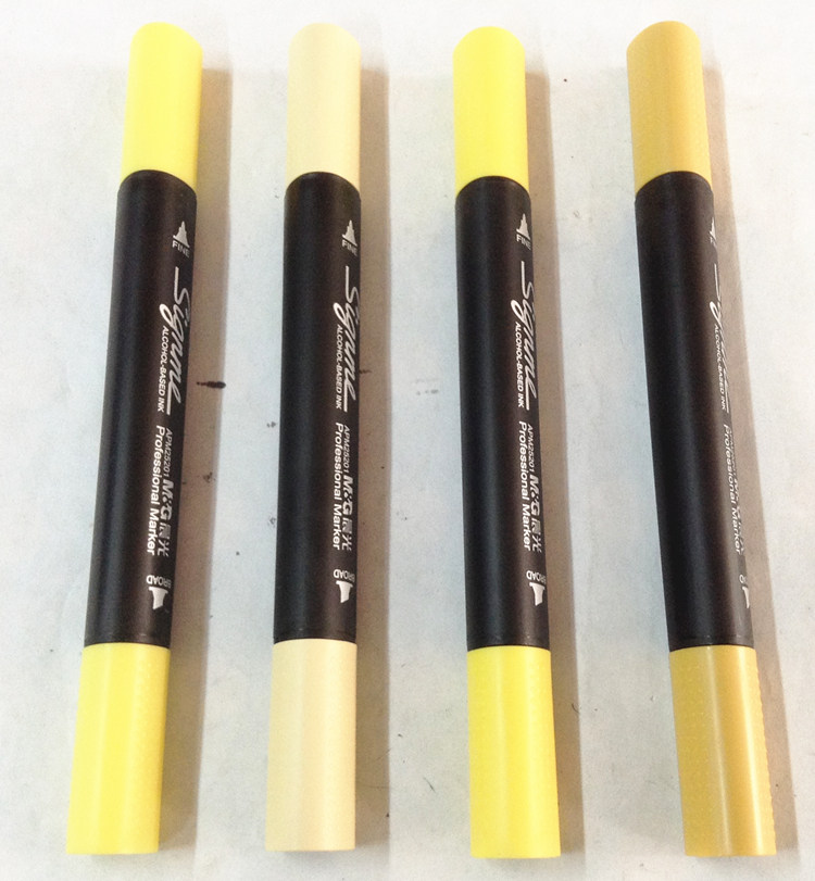 9 Different Level Yellow Tone Art Marker Professional Alcohos