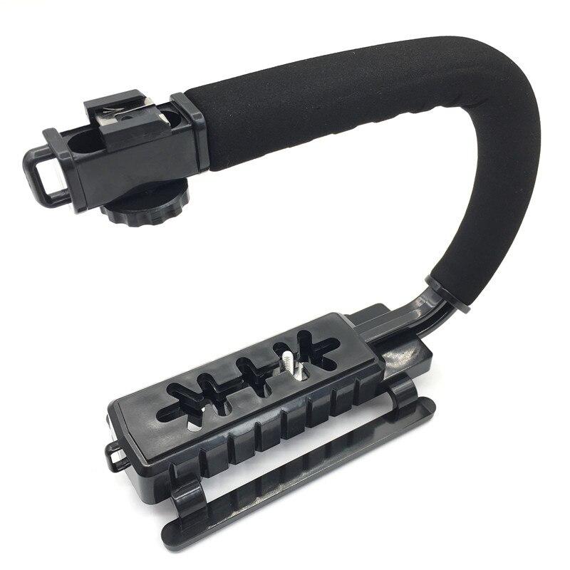 C Förmigen Halter Grip Video Handheld Stabilisator für DSLR Nikon Canon Sony Kamera und Licht Tragbare SLR Steadicam für Gopro