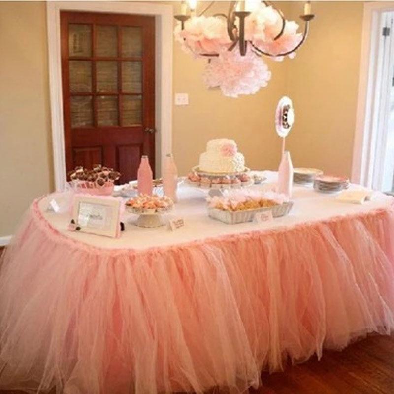 winter wonderland tulle tutu table skirt wedding birthday baby shower
