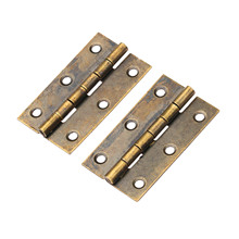 2Pcs Bronze Furniture Cabinet Drawer Door Butt Hinge Antique Decorative Hinges for Jewelry Wooden Box Furniture Hardware 50x28mm dreld 2pcs antique bronze cabinet hinges door butt hinge wood gift jewelry box hinge fittings for furniture hardware with screws
