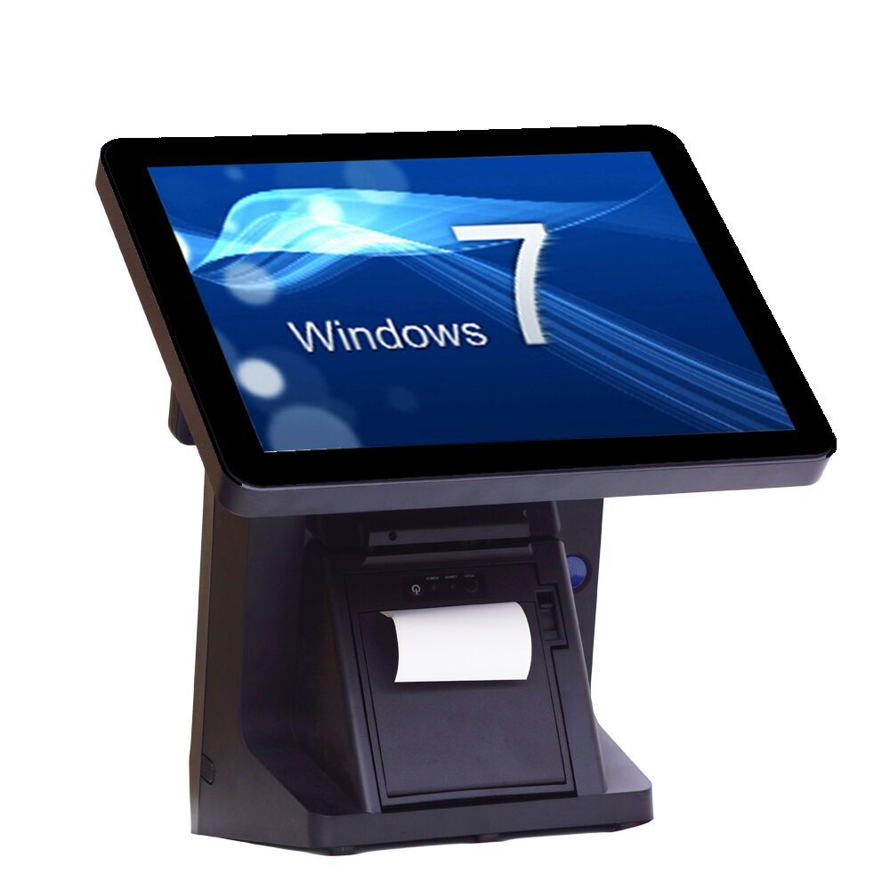 все цены на High quality 15 inch single screen built-in 58mm thermal printer all in one retail pos system онлайн