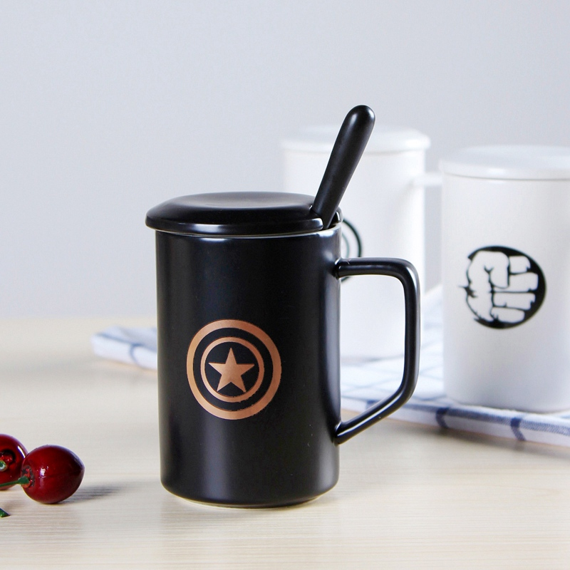 Creative Ceramic Mug League Of Legends Mugs Capacity Milk Cup Home Office Coffee Cups With Lid Spoon Black White 7 Patterns In From Garden