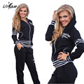 Autumn Fashion Leisure Suits 2017 Women tracksuits Suit Female Sportswear Womens Hoodies Suit RS183