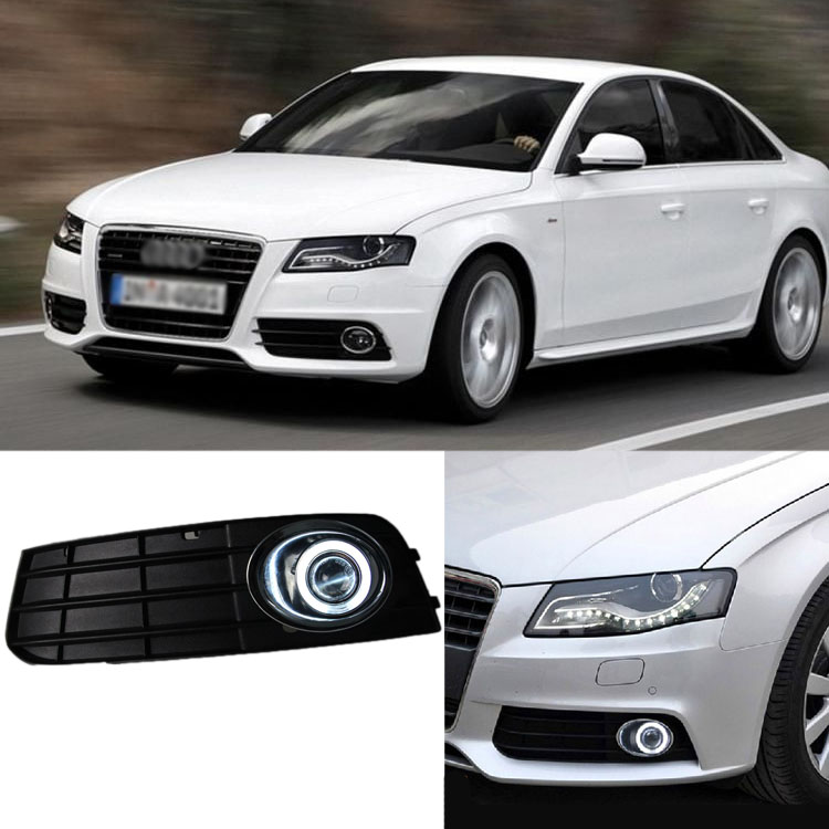 Ownsun Superb 55W Halogen Bulbs COB Fog Lights Source Angel Eye Bumper Cover For Audi A4 B8