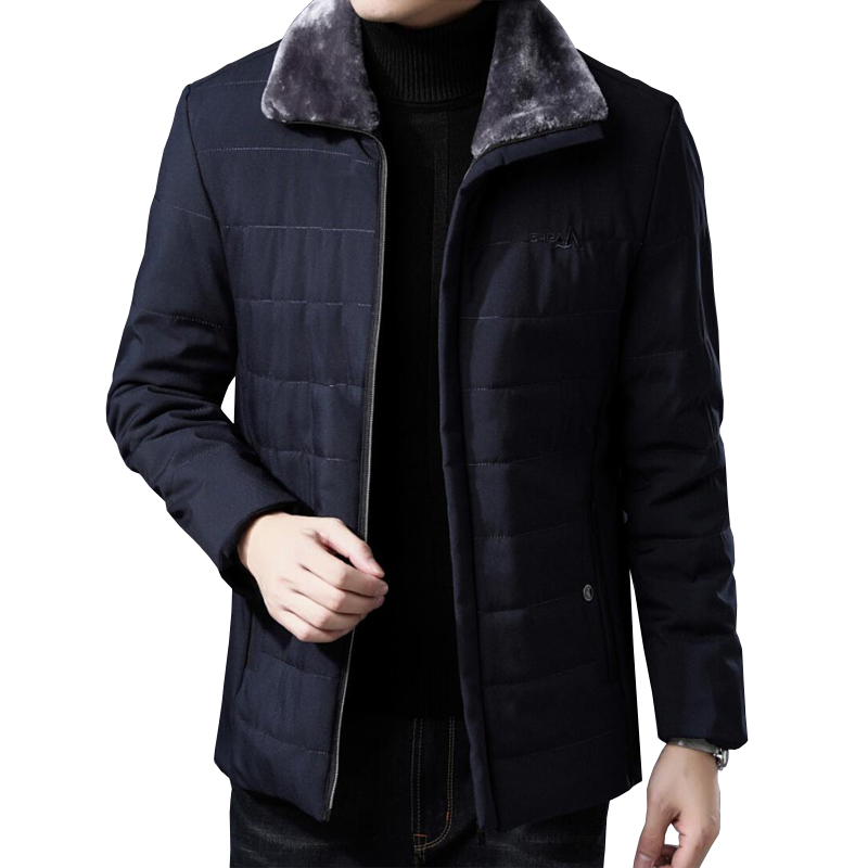 New fashion mens winter jacket coat quality thick lapels plus fluffy collar winter jacket casual large size M-5XL winter jacket