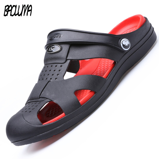 2019 New Summer Shoes Men Beach Sandals Hollow Slippers Men Lighted Casual Shoes Outdoor Fashion Men Flats