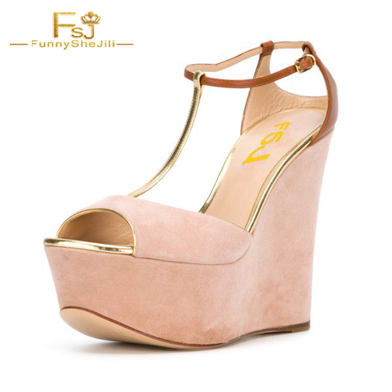 Light Pink Peep Toe Ankle Strap Shoes