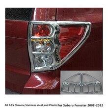 Hot Car rivelatore ABS Bicromato di Potassio della copertura trim posteriore lampada di coda luce posteriore parti del telaio 2 pcs per subaru Forester 2008 2009 2010 2011 2012