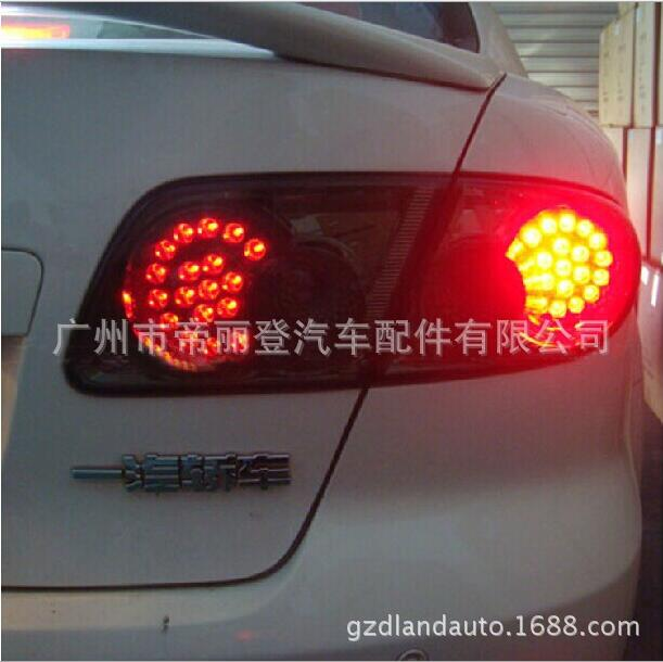 Hireno Tail Lamp for Mazda Mazda6 2003-12 Taillight Rear Lamp Parking Brake Turn Signal Lights car styling tail lights for toyota highlander 2015 led tail lamp rear trunk lamp cover drl signal brake reverse