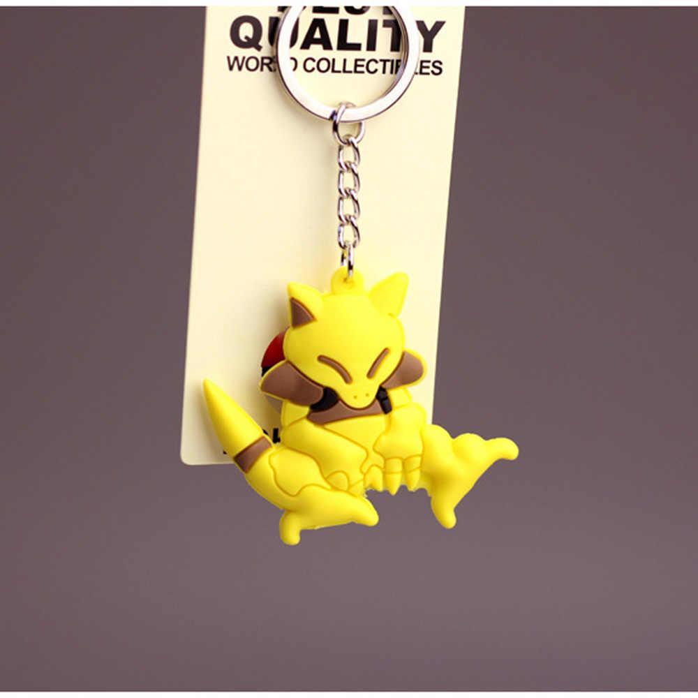 Фигурки ПВХ брелоки мультфильм Pokemongo брелок Аниме Пикачу брелок Gengar Casey Ponyta 3D Дракон Милая подвеска брелок