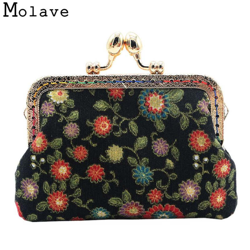 Naivety Mini Coins Purses Flower Printing Coin Purse Small Hasp Cotton Fabric Wallet Portable Bag 30S71214 drop shipping