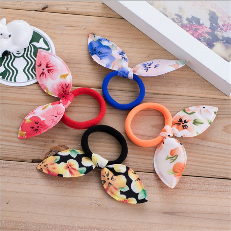 1PCS Rabbit Ears Hair Ring Headwear, Butterfly Hairnets, Child Towel Ring Rabbit Ears Hair Ring, Best DIY Gift For Kids And Girl