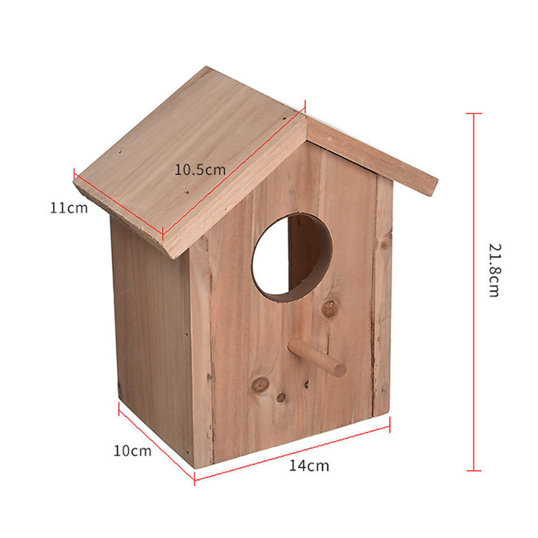 Superb Us 9 25 32 Off Mayitr Wood Bird House Nest Suction Cup Window Mountednesting View Box Birdhouse For Bird Pets Supplies In Bird Feeding From Home Interior Design Ideas Tzicisoteloinfo