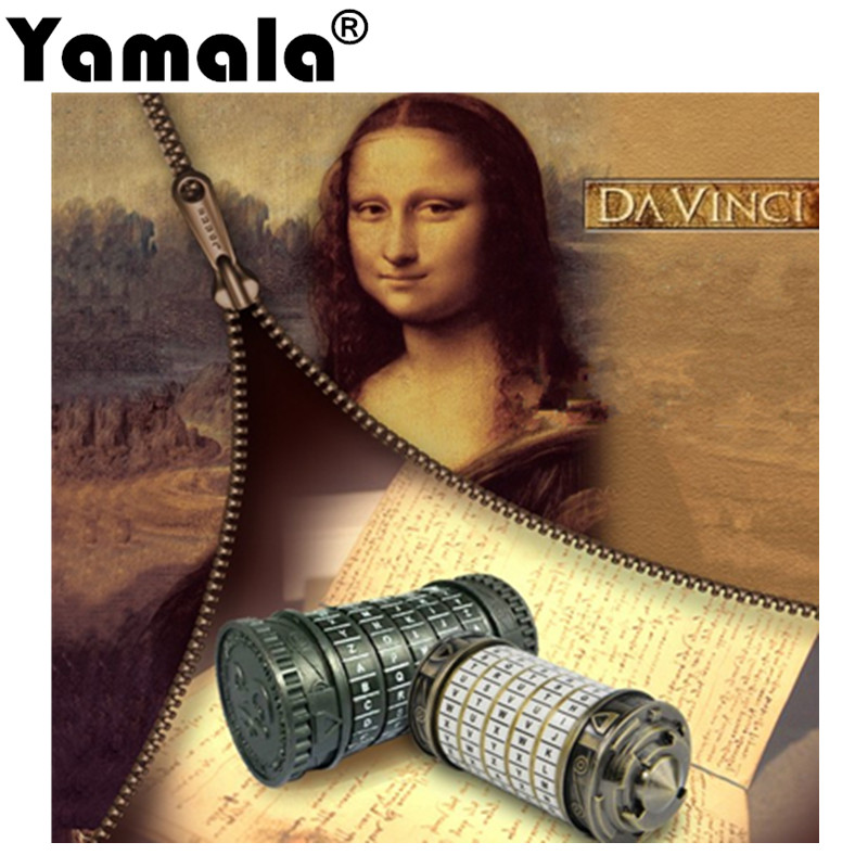 [Yamala] Leonardo da Vinci Educational toys Metal Cryptex locks gift ideas  Christmas gift to marry lover escape chamber props фломастер акварель leonardo da vinci art da vinci 428 v66