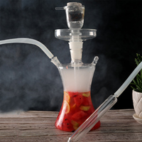led art hookah big fruit shisha led glass russia hookah smoking separate down stem design can put in fruits clear silicone hose