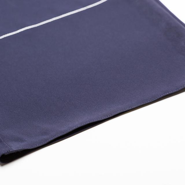 Drawstring Zipper High Waist Loose Slender Causal Women Wide Leg Pants Trousers Dark Blue