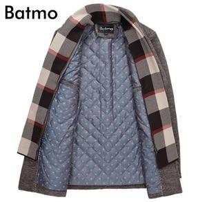 Image 3 - Batmo 2019 חדש הגעה חורף באיכות גבוהה צמר מזדמן אפור תעלת מעיל גברים, גברים של חורף מעיל חם, חורף מעילי גברים 823