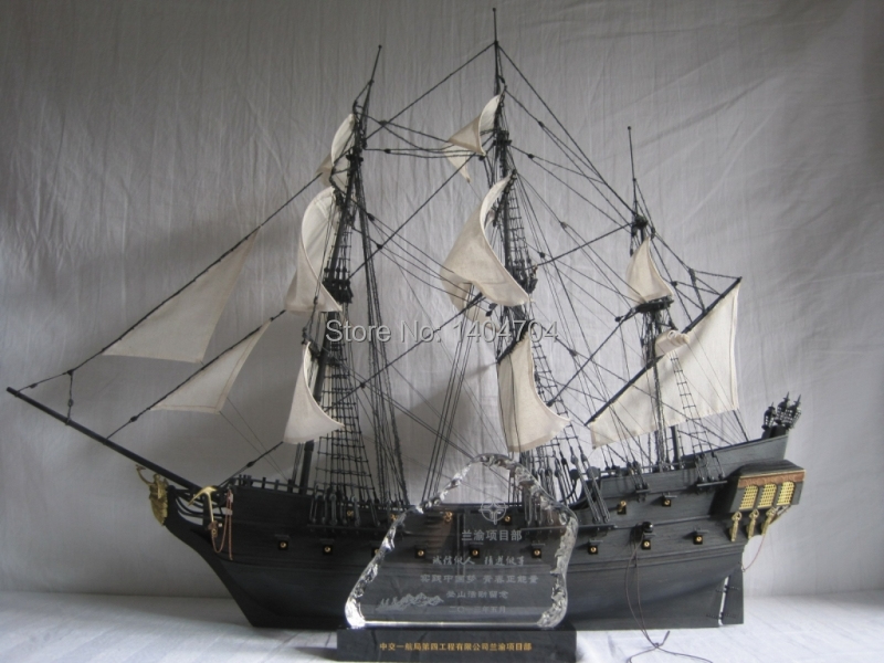 Classical Wwoden Sailing Boat Assemble Kit 143 Black Pearl Pirates