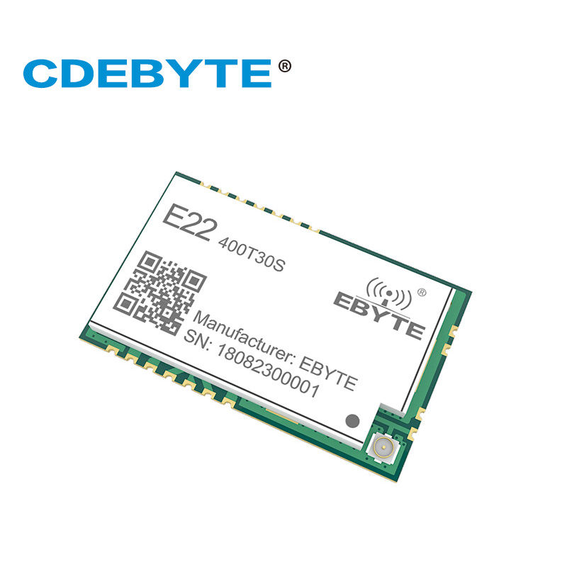 E22-400T30S 30dBm SMD UART SX1268 SX1262 Wireless Transmitter and Receiver  SMD 1W 433 MHz RF Module RSSI Net Work Transceiver