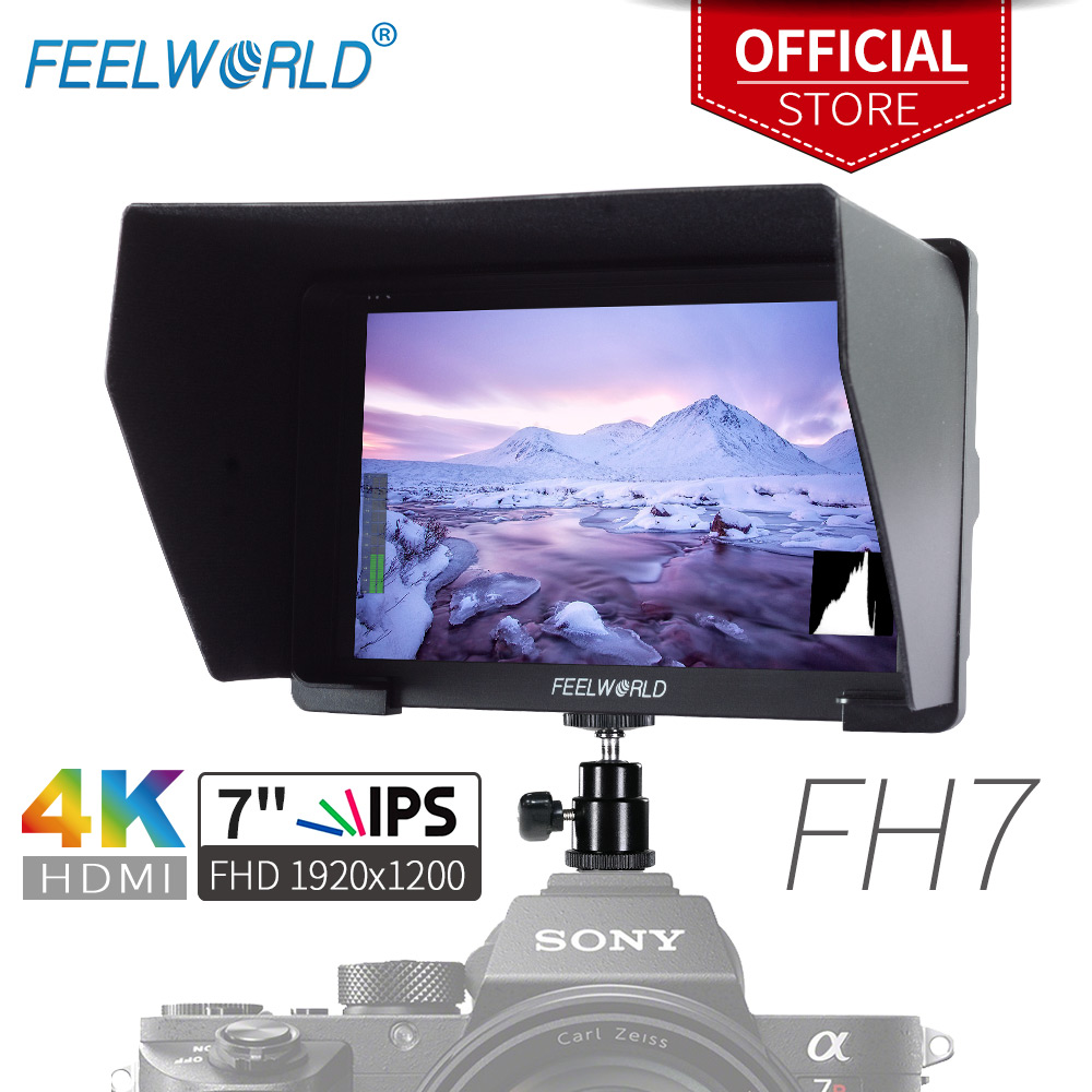Feelworld 7 IPS 1920x1200 FHD 4K HDMI Camera Field Monitor for Camera DSLR Gimbal Rig with Peaking Focus Histogram Zebra FH7 feelworld fw760 fullhd 1920x1280 7 camera video ips filed monitor hdmi peaking focus assist contrast 1200 1 wide view angles