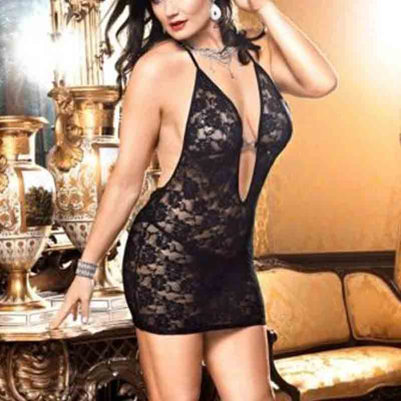 2019 New Female <font><b>Sexy</b></font> Hot Erotic Underwear Backless <font><b>Lingerie</b></font> Lace Dress <font><b>Babydoll</b></font> Women Lingere Nightwear Sleepwear Plus Size <font><b>XXXL</b></font> image