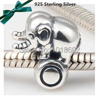 925 Sterling Silver Pendant Elephant Vintage Charms Accessories For Finding Fashion Lady Bracelet Necklace 1pc Lot