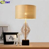 FUMAT Gold Spinnennetz Tischlampen Nordic Modernen Minimalistischen Leinen Stoff Lampenschirm Metall Tischlampe Warmes Schlafzimmer Nachttischlampe