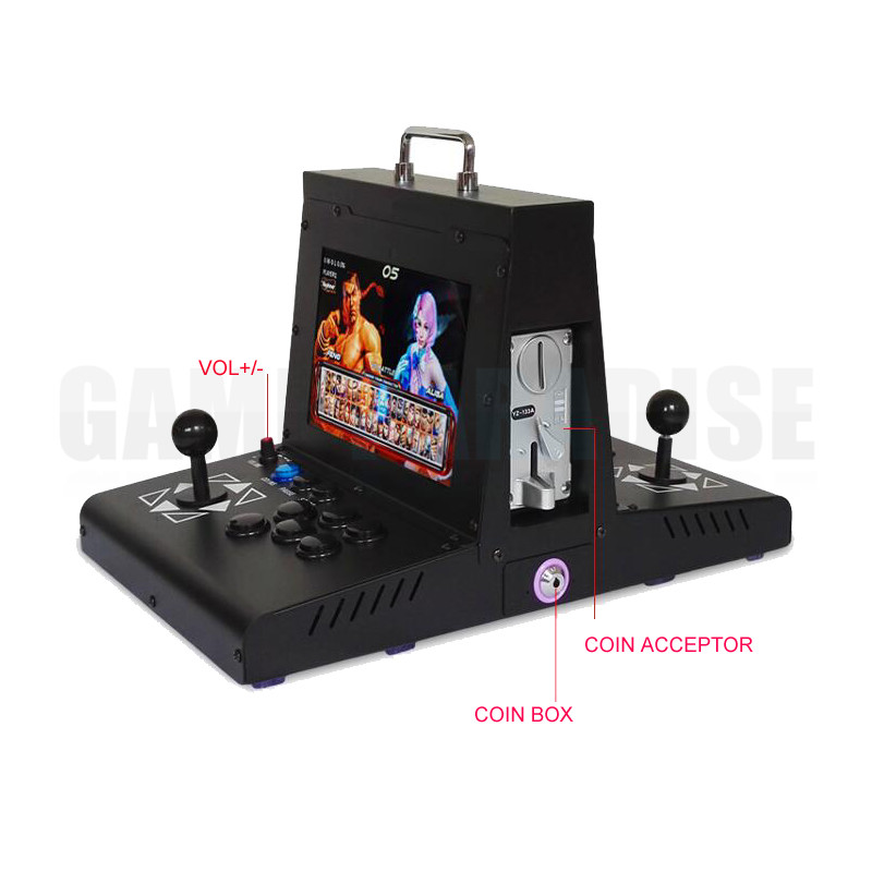 2 player metal case coin operated Arcade Game machine with 10 inch LCD  pandora 9  1500 in 1 main board VGA HDMI output