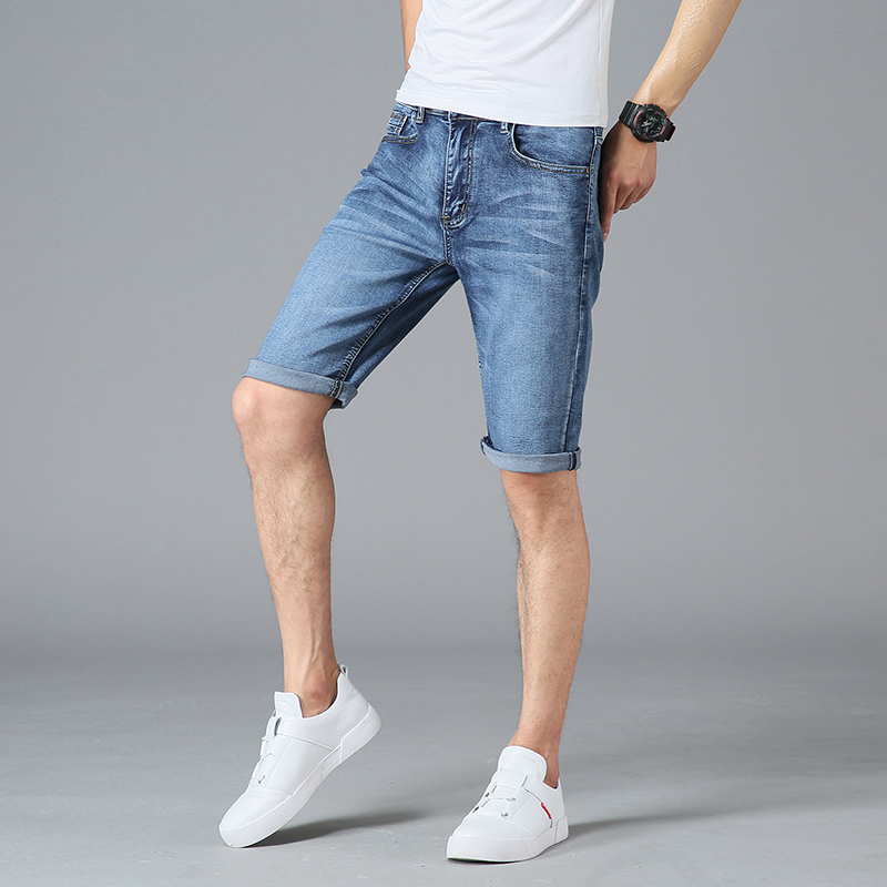 2018 Men Business Summer Style Casual New Men Short Jeans Personality Thin Denim Short Jeans Men Fashion ...