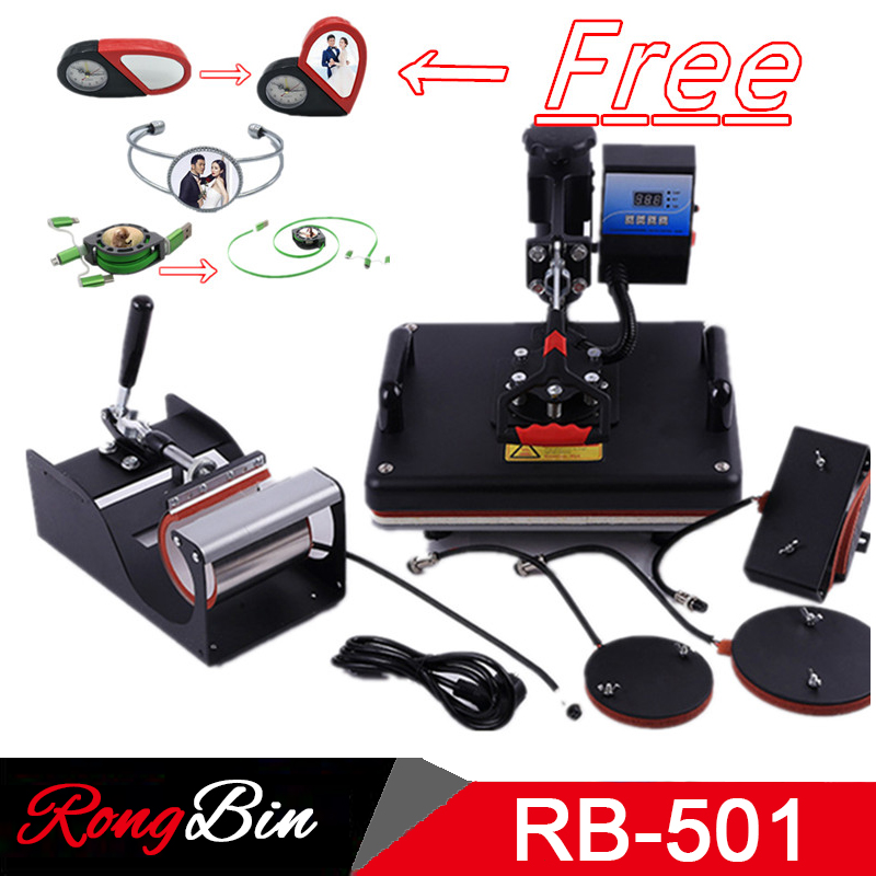 5 in 1 Combo Swing Heat Press Machine Sublimation Heat Press 12