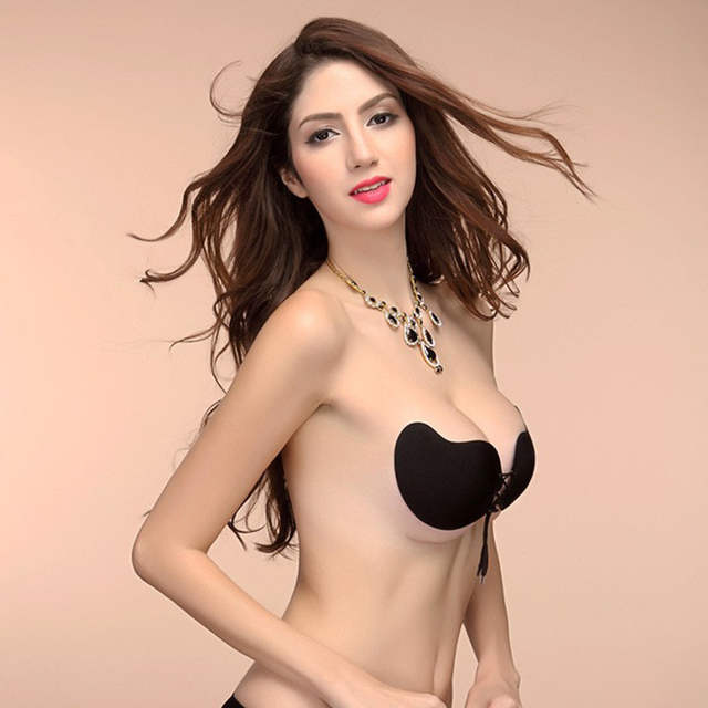 f58c2d38979a9 Sexy Women bra Invisible Strapless Bra Push Up Silicone Bust Front Bandage  Backless Self Adhesive Gel