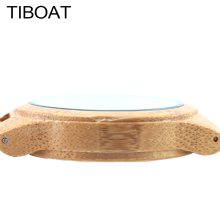 TIBOAT Persistent Cancer Full Bamboo Handmade Bamboo Wooden Watches Quartz Analog Watch Men With gift box Relojes De Hombre 2017