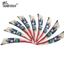 20pcs 4 inch Shield Turkey Feathers Hunting Arrow Feather handcraft Fletching Right Wing arco e flecha
