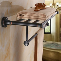 American black bronze towel rack towel rack ORB Nordic towel bathroom rack European bathroom pendant lo820448