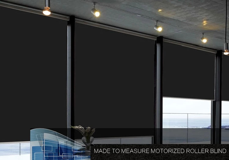 Free shipping DC Motorized Roller blind the window curtains customized size Electric Roller shades with Dooya