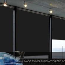 DC моторизованный рольставни окна шторы Индивидуальный размер электрические роликовые шторы с Dooya мотор DM25TE