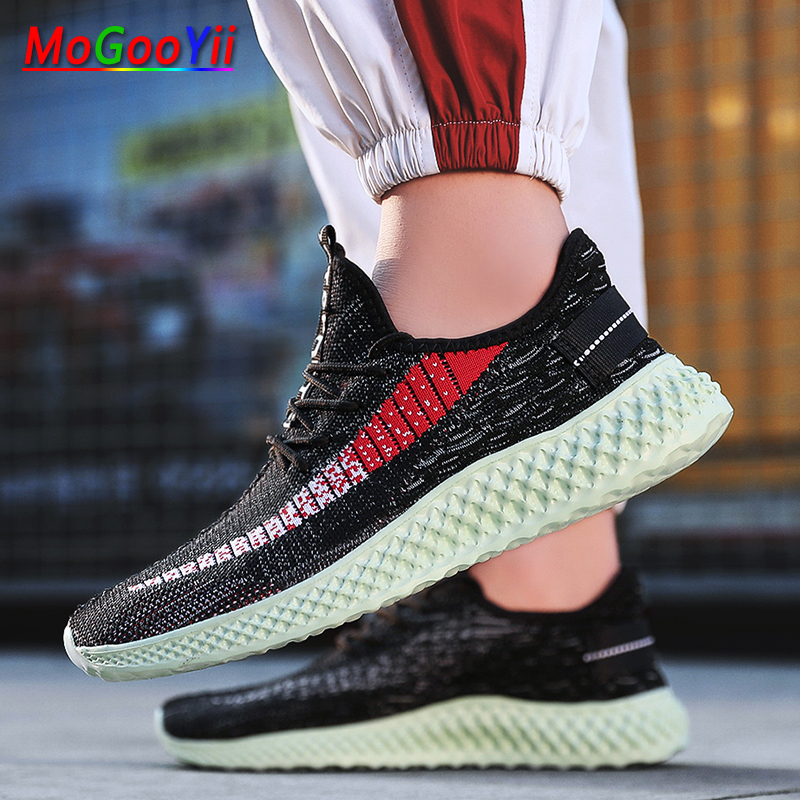 Men Casual Shoes Breathable Flat Spring Summer Sneakers Male Trainers Sneaker Comfort Black Luxury Shoes in Men 39 s Casual Shoes from Shoes