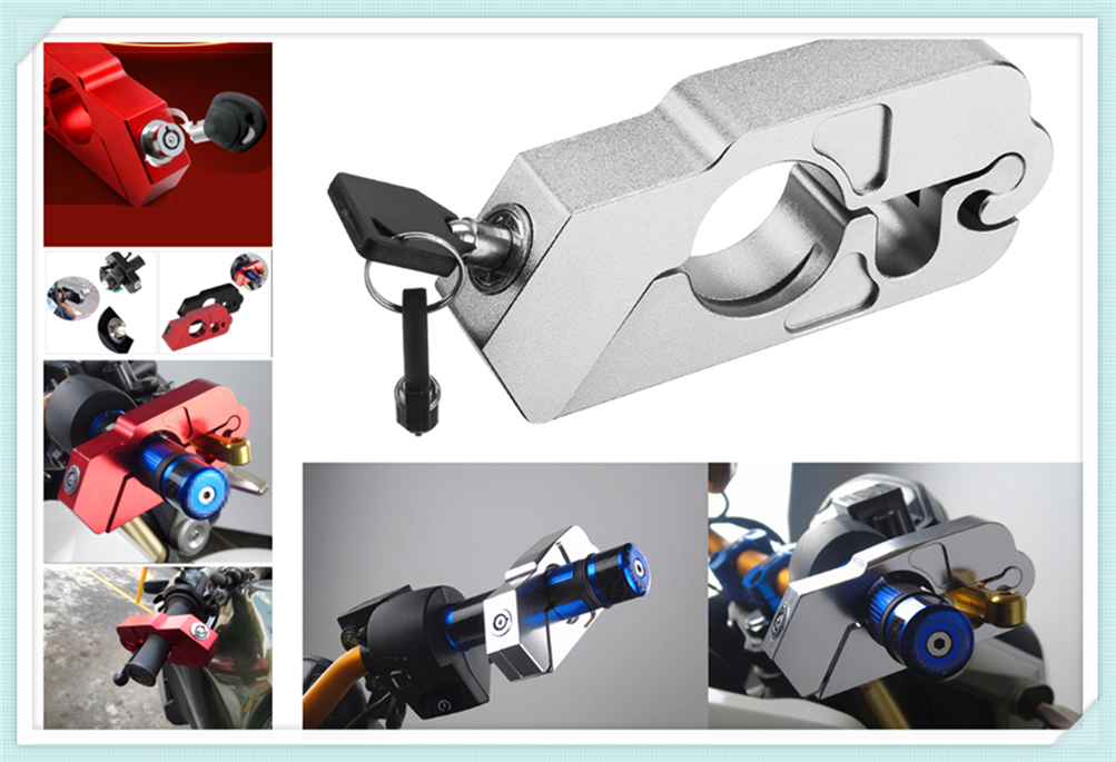 Motorcycle ATV Aluminum Alloy Anti-theft Security Lock Handle Brake For KTM 505SX-F 505XC-F 525SX SX-R XC XC-W 525EXC-R