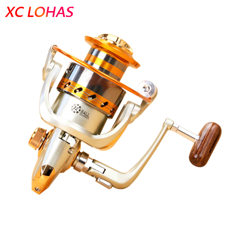 Mest kostnadseffektive Metal Spinning Fiskehjul EF1000 2000 3000 4000 5000 6000 7000 Baitcasting Fishing Reel Sea Fishing Tackle